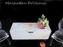Faux Marble Miniature Cabinet