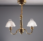 Metropolitan 2-Arm Ceiling Lamp with Translucent Shades C17