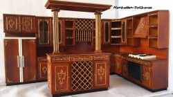 Designer Kitchen in Walnut-6 Pieces