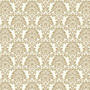 Champagne Damask Dollhouse Wallpaper