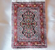 Miniature Rectangle Woven Rug with Fringes