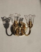 Sconce with Clear Shades W6