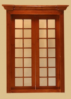 Miniature Dollhouse Classic French Double Door
