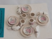Traditional Dollhouse Miniature Dish Set-4 place settings