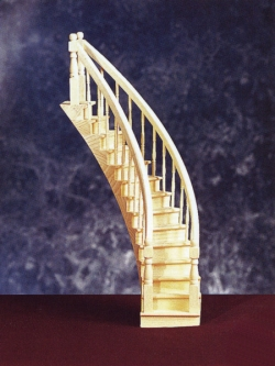 Assembled Curved Staircase