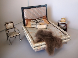 Exclusive Platform Dollhouse Bed by Serena Johnson