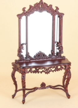 Hall Table and Mirror in Mahogany by Bespaq