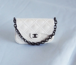 Mini Quilted Designer Bag with Gunmetal Chain