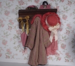 Miniature Dressed Coat Rack with Accessories-Female