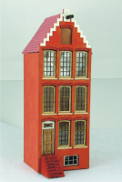 Step Gabled Amsterdam Canal House 144th Scale