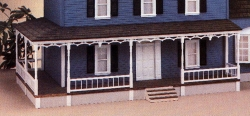 31 Inch Dollhouse Wraparound Porch Kit - Left Only