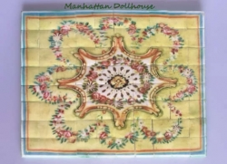 Aubusson Style Yellow & Pink Ceramic Floor Tiles