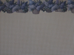 Dollhouse Wallpaper with Lilac Flower Border