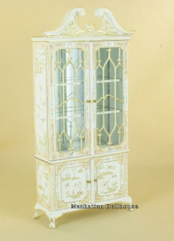 Fancy Mullioned Cabinet - White