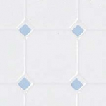 Blue and White Octagon Dollhouse Floor
