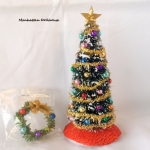 Christmas tree w/wreath.-Traditional