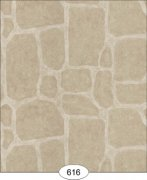 Cobblestone Dollhouse Wallpaper-Beige