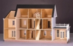 The Montclair Dollhouse Kit-Milled Plywood