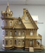 Leon Gothic Victorian Mansion Dollhouse Kit