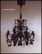 Black Crystal 6-Arm Dollhouse Chandelier-C30