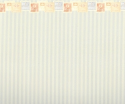 Stripe Wallpaper with Lotion Border 604D