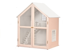 Pink Front-Opening Dollhouse kit
