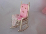 Dollhouse Miniature Pink Canopy Bedroom Set by Serena Johnson