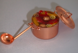 Miniature Crabfest in a Copper Stock Pot