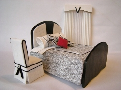 Black and White Art Deco Bedroom Suite