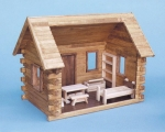 Crockett's Log Cabin Dollhouse Kit