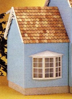 Front-Opening Colonial Addition Dollhouse Kit Extension