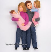 Erna Meyer Flexible Dollhouse Family