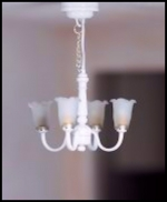 White 4-Arm Hanging Lamp C10