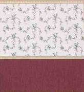 Burgundy Floral Dollhouse Wallpaper