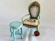 Pretty in Blue Hand-Painted Chair and Table