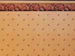 Pink Rose Dollhouse Wallpaper with Border
