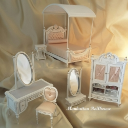 Miniature Dollhouse Madeline Girls Bedroom Set