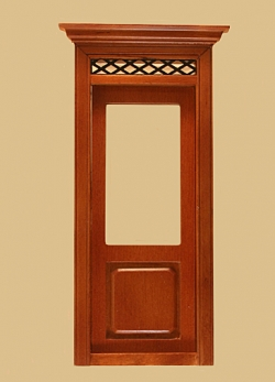 Westfield Exterior Dollhouse Door in Walnut