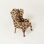 Leopard Print Wingback Chair