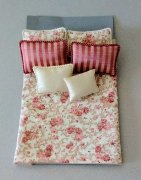 Pink and Floral Bed Cover