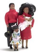 African American Dollhouse Family-Dolls