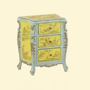 Chateau Bedstand Commode-Hand Painted