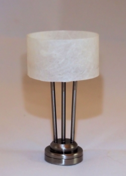 The New Yorker Table Lamp in Pewter T27D