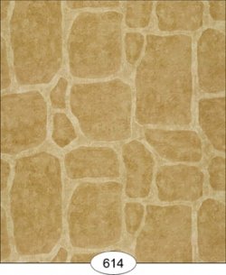 Cobblestone Dollhouse Wallpaper-Brown