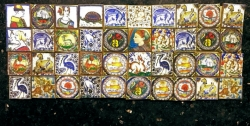 Miniature Hand-Painted Wall Tiles