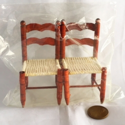 Miniature Wood Chair Set-2