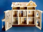 Front-Opening Georgian Shell Dollhouse Kit