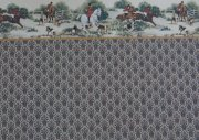 Dollhouse Wallpaper with Horse Chase Border