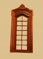 Pollinade French Single Dollhouse Door in Walnut