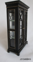 Art Deco Cabinet with Glass Doors - Black and Gold